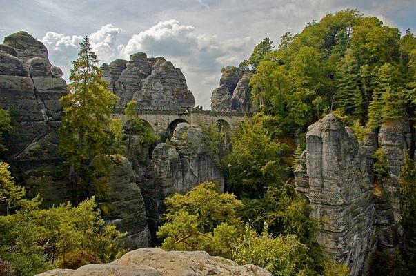 - Blick auf die Basteibrücke -