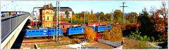 Blick auf die Gleisanlagen am B 23