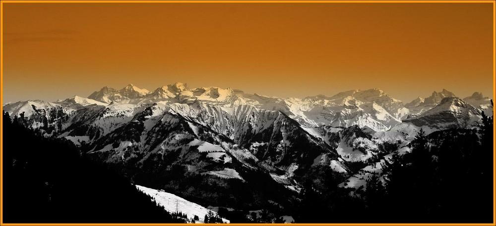 Blick auf die Innerschweizer-Alpen