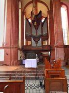 Blick auf die Klais-Orgel in der Kircher der Abtei Himmerod
