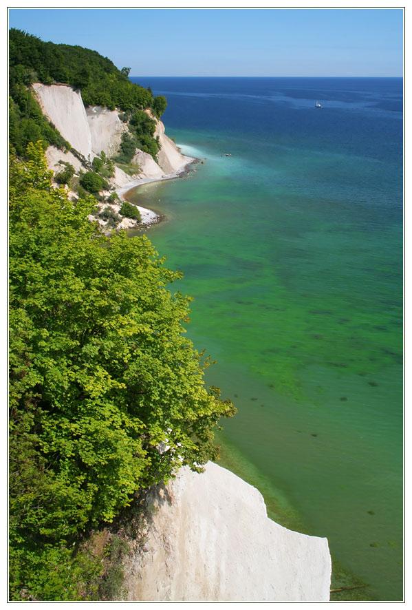 Blick auf die Küste von Jasmund