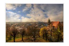 Blick auf die Marienkirche in Pirna
