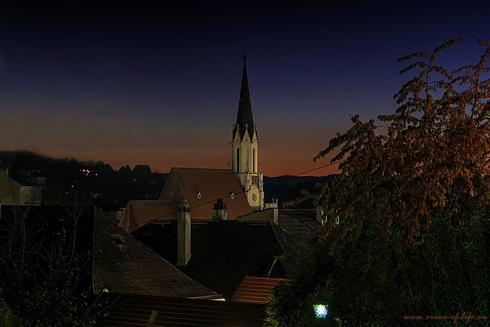 Blick auf die Marienkirche Melk
