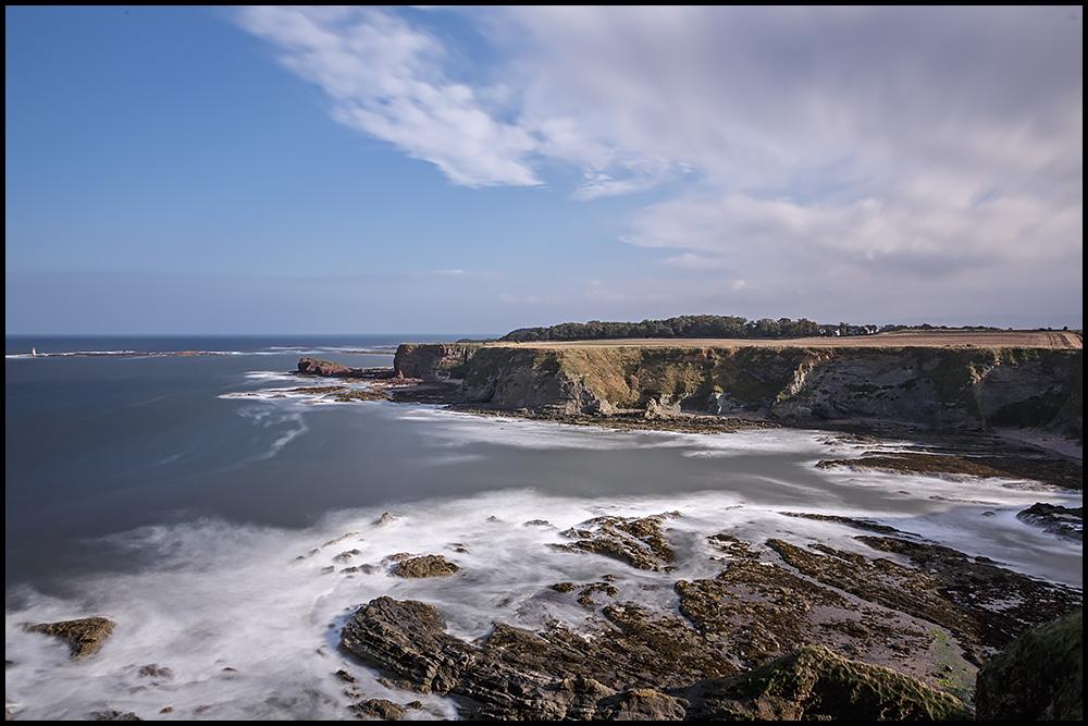 Blick auf die Nordseeküste ...