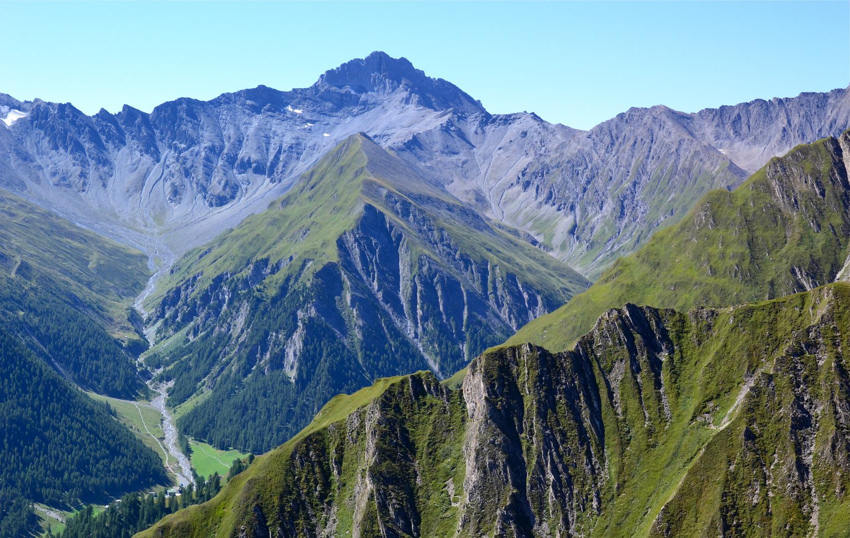 Blick auf die Samnauner Bergwelt aus dem Twinliner