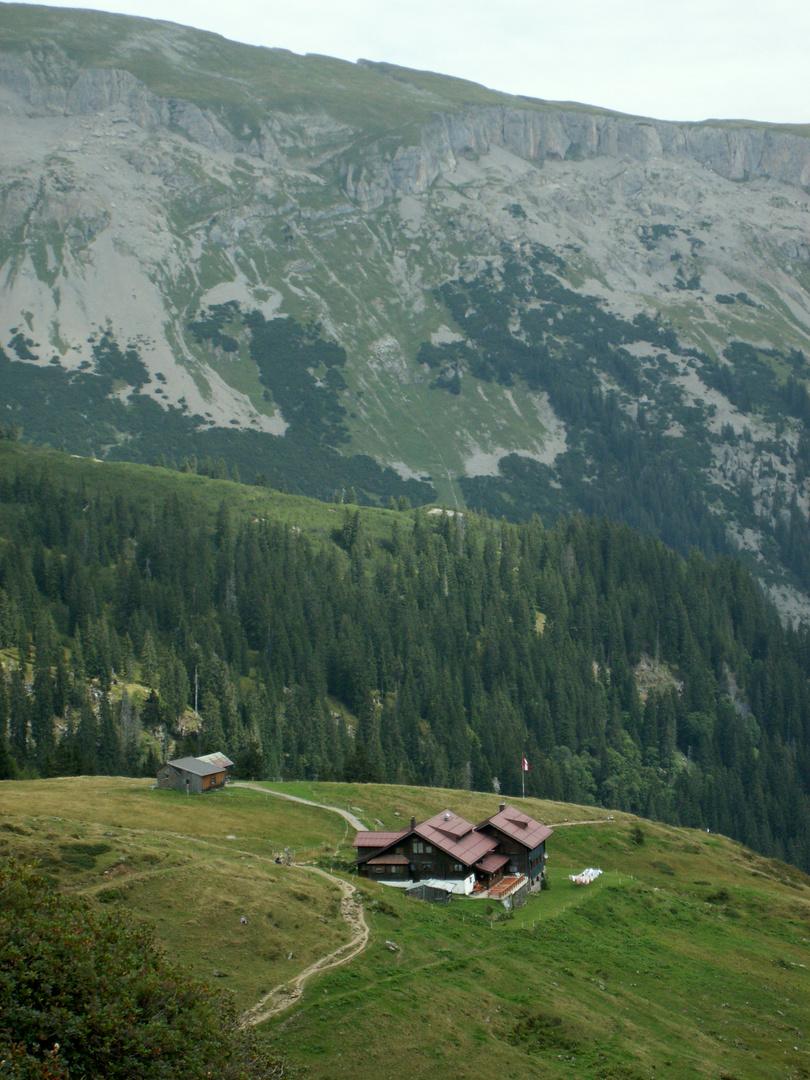 Blick auf die Schwarzwasserhütte
