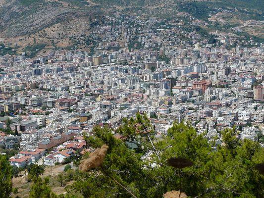 Blick auf die Stadt Alanya