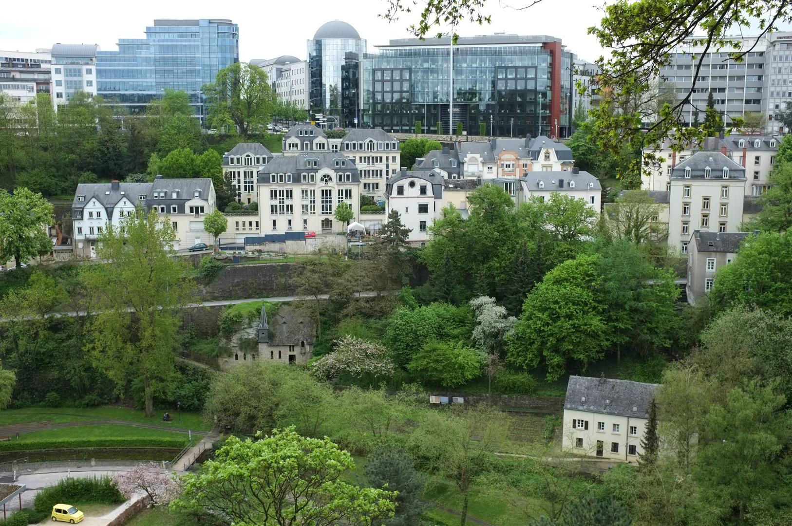 Blick auf die Stadt Luxemburg