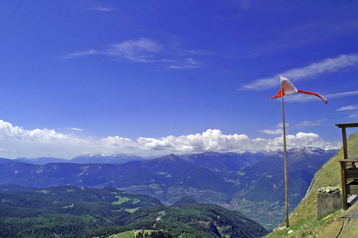 Blick auf die Texelgruppe - von der Kuhleiten Hütte Südtirol - Meran 2000