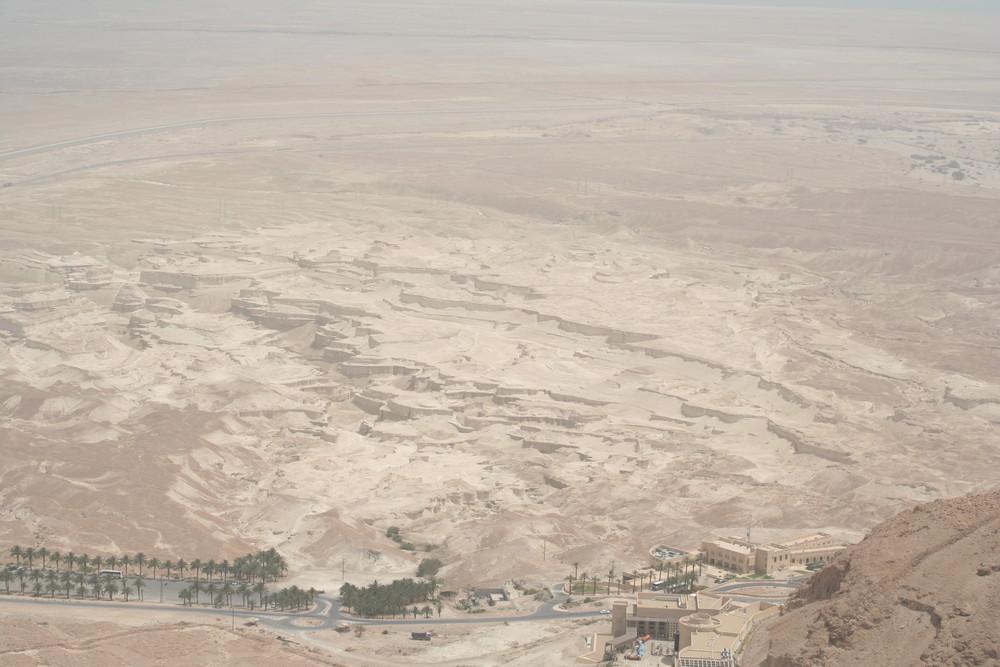 Blick auf die Wüste vor MASADA