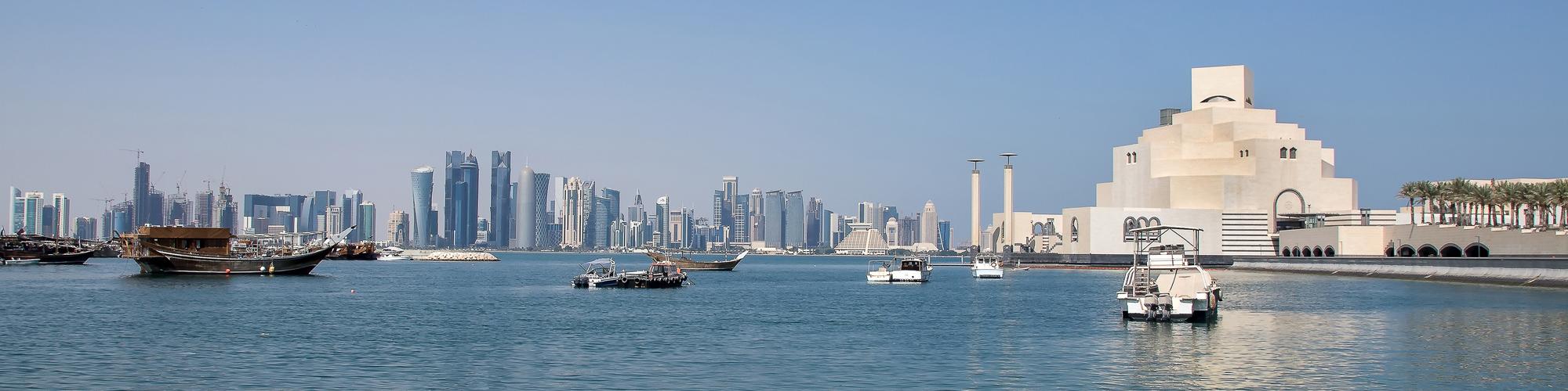 Blick auf Doha, Qatar.