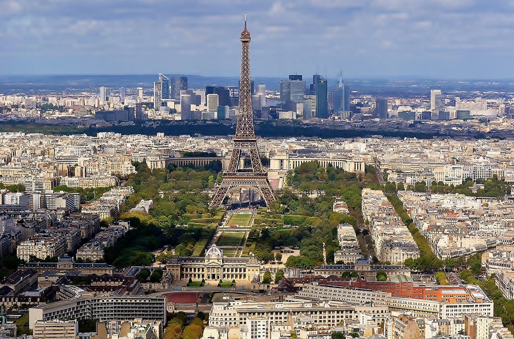 blick auf eiffelturm vom tour montparnasse foto bild europe france paris bilder auf. Black Bedroom Furniture Sets. Home Design Ideas