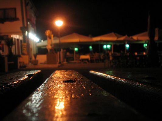 Blick auf ein Restaurant