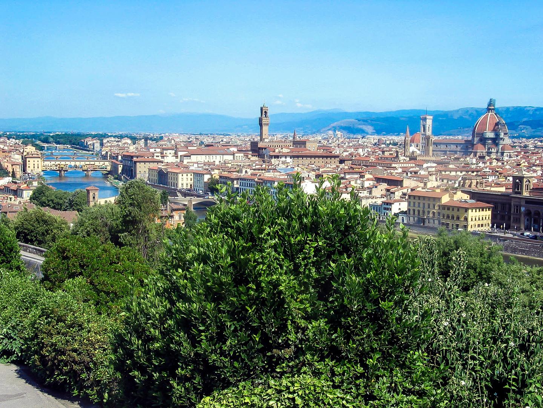Blick auf Florenz von Piazza Michelangelo