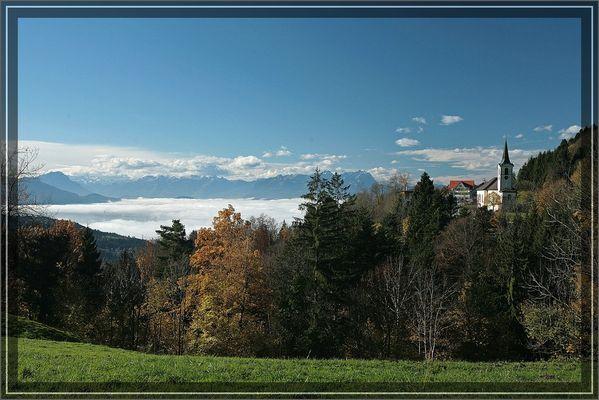 Blick auf Fluh (oberhalb von Bregenz)