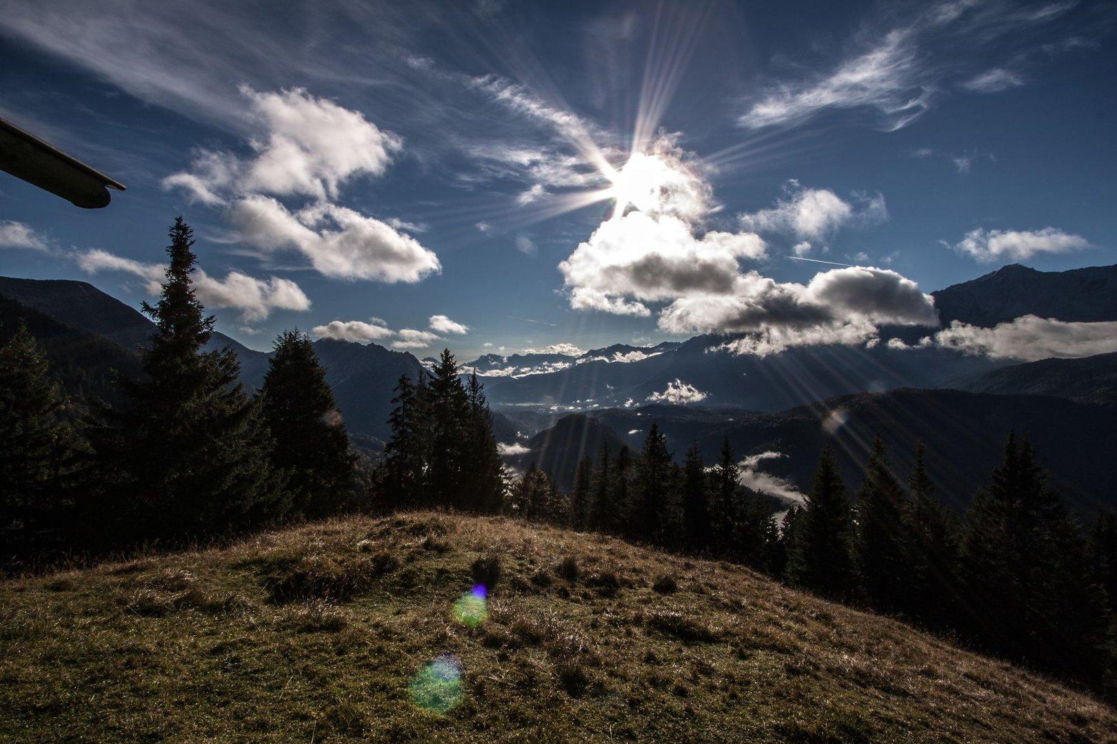 Blick auf Garmisch- Partenkirchen