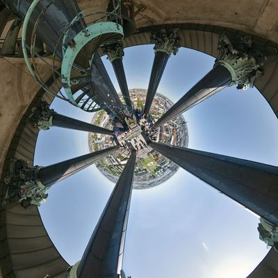 Blick auf Hamburg vom Michel Turm