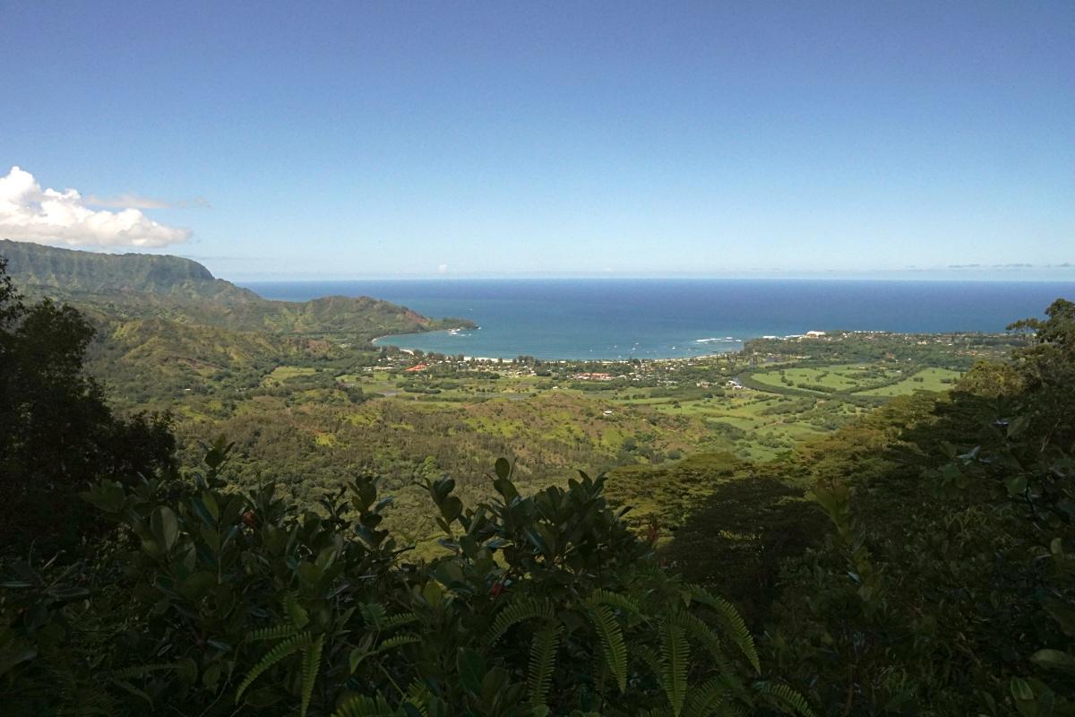 Blick auf Hanalei Bucht