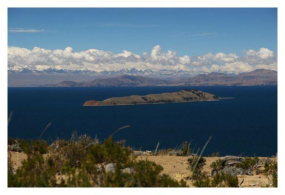 Blick auf Isla de la Luna (Titicacasee)