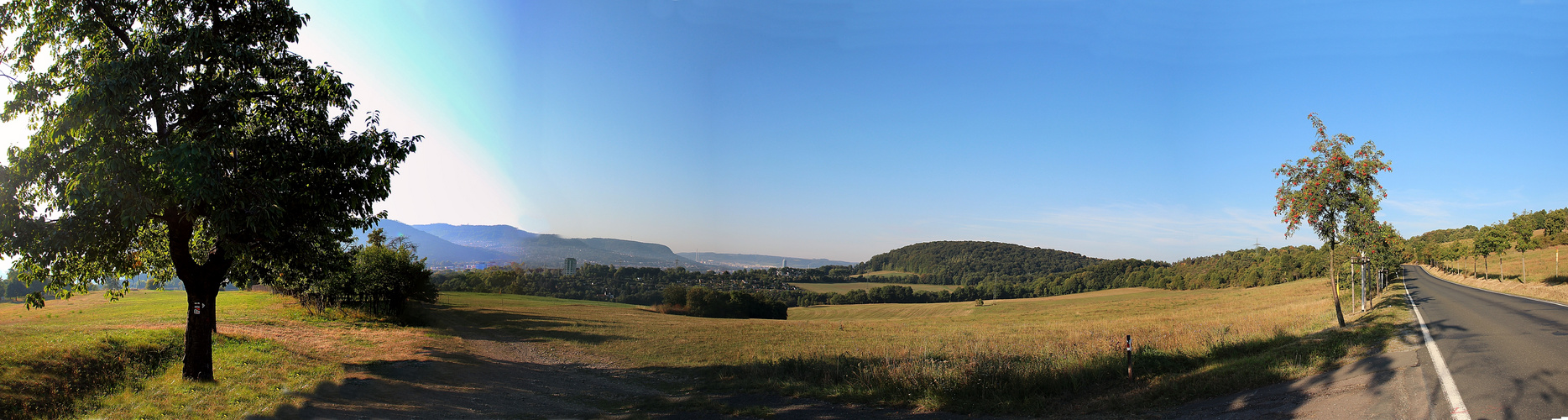 Blick auf Jena vom Jägerberg am Morgen