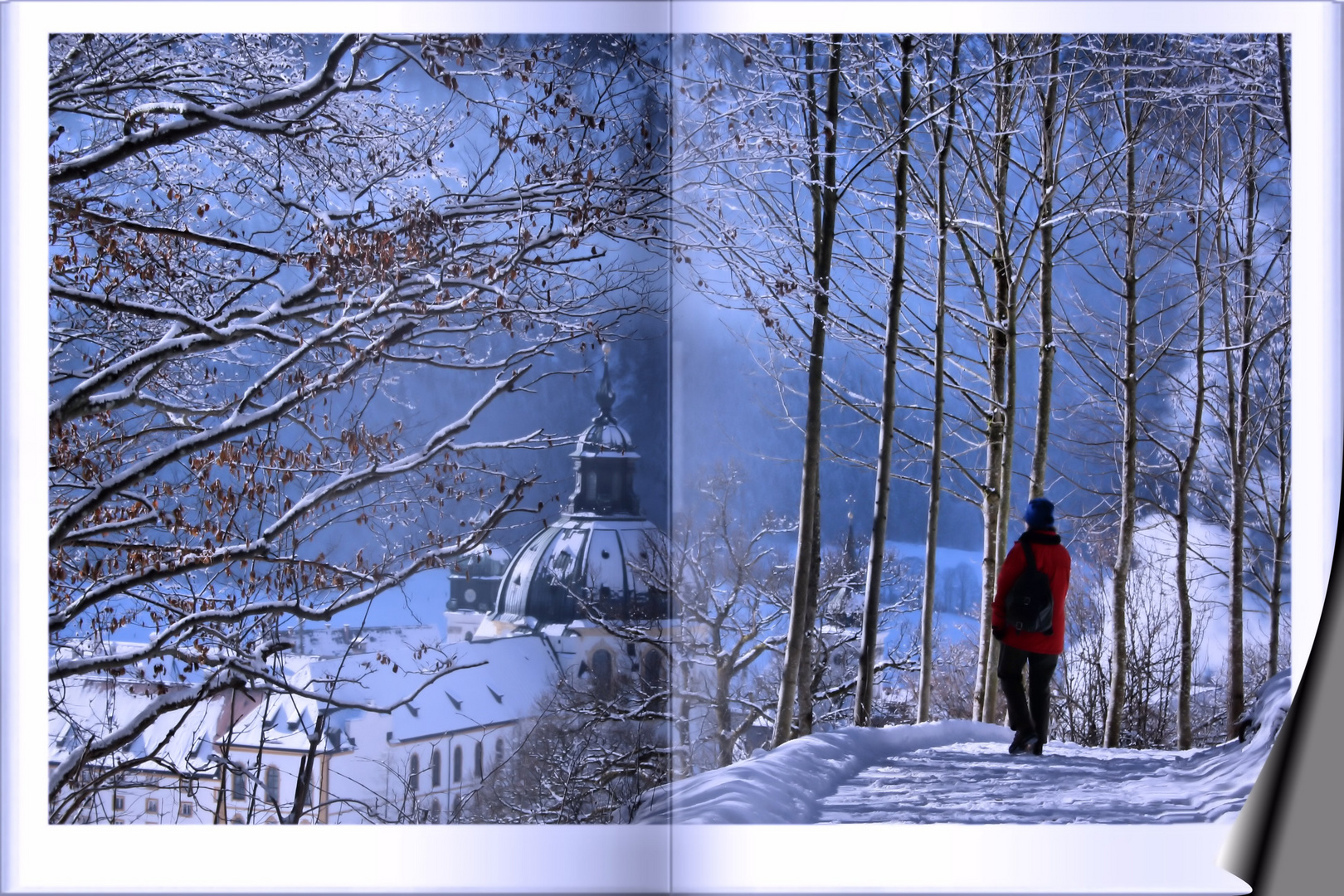 Blick auf Kloster Ettal