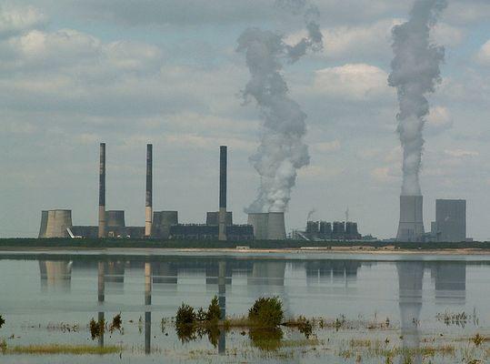 Blick auf Kraftwerk Boxberg