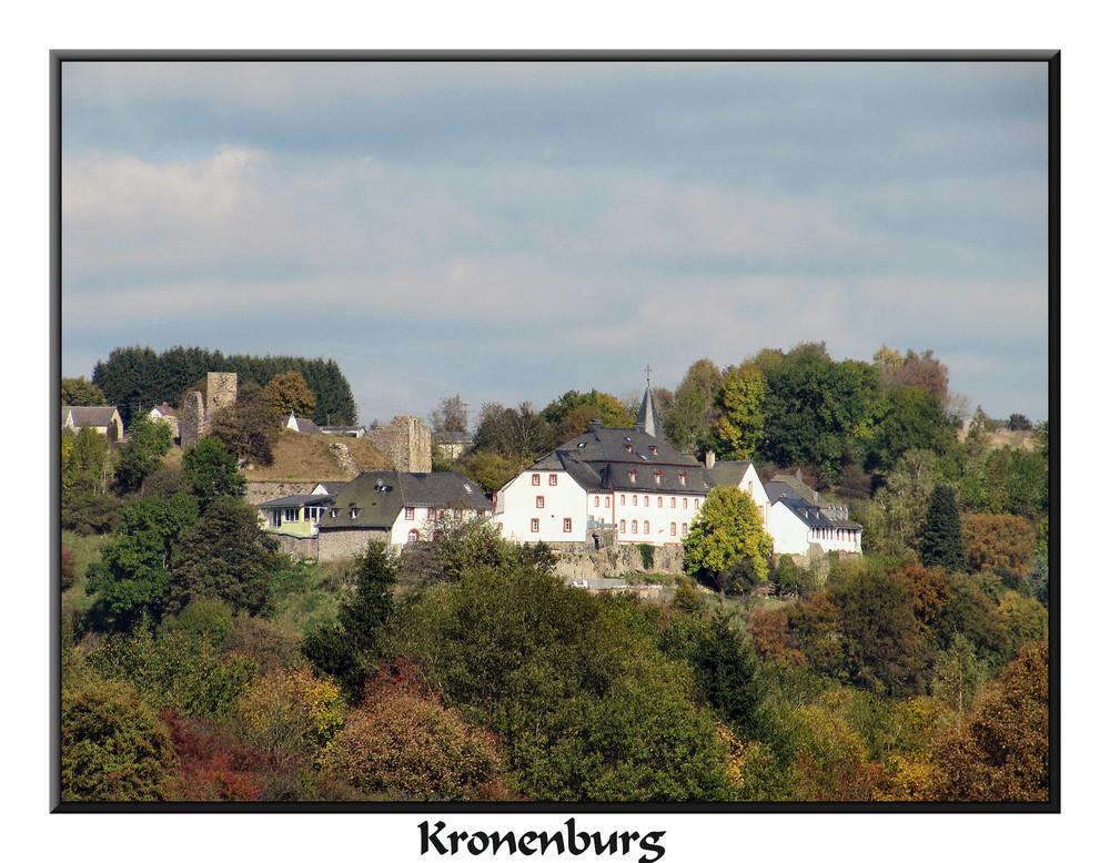 Blick auf Kronenburg in der Eifel