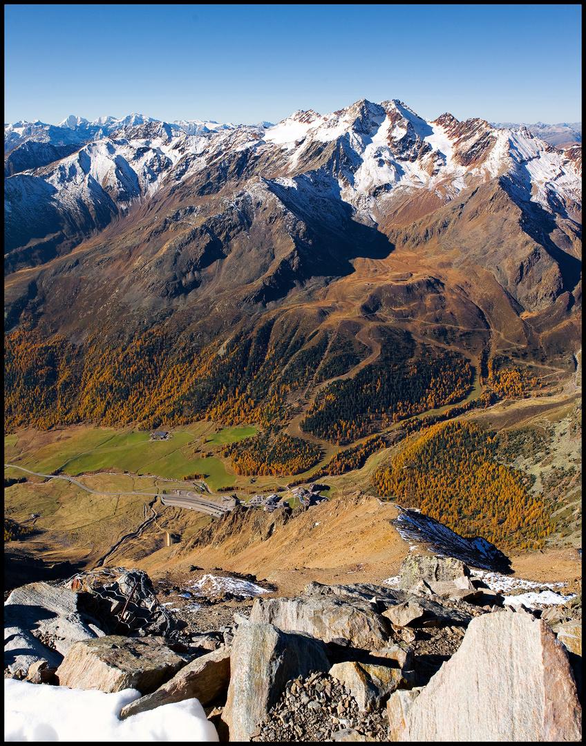 Blick auf Kurzras - Val de Senales