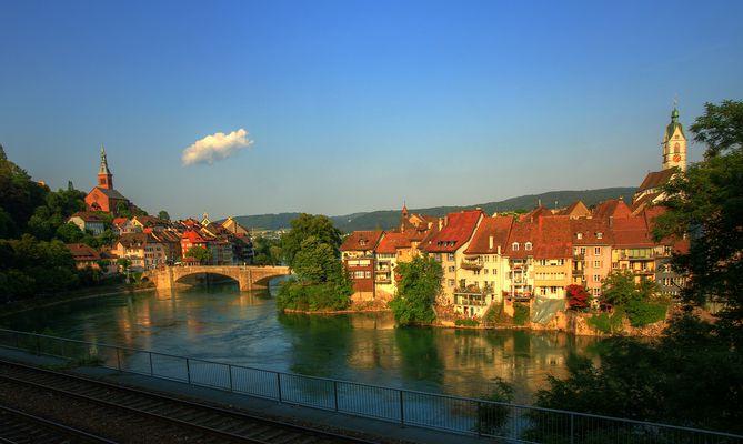 Blick auf Laufenburg am Rhein