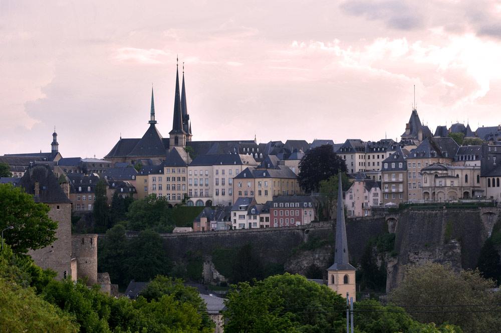 Blick auf Luxemburgs Altstadt