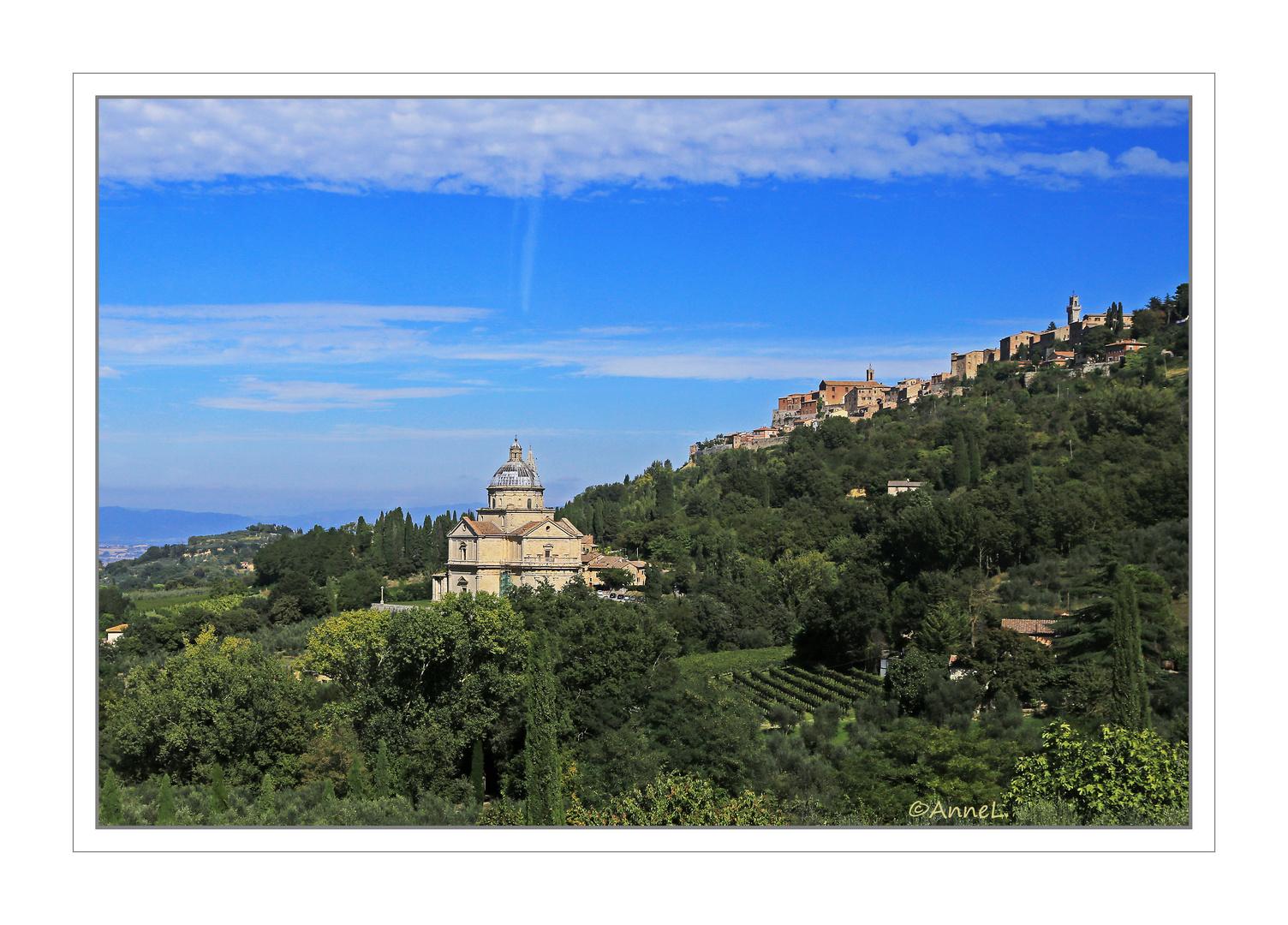 Blick auf Montepulciano . . .