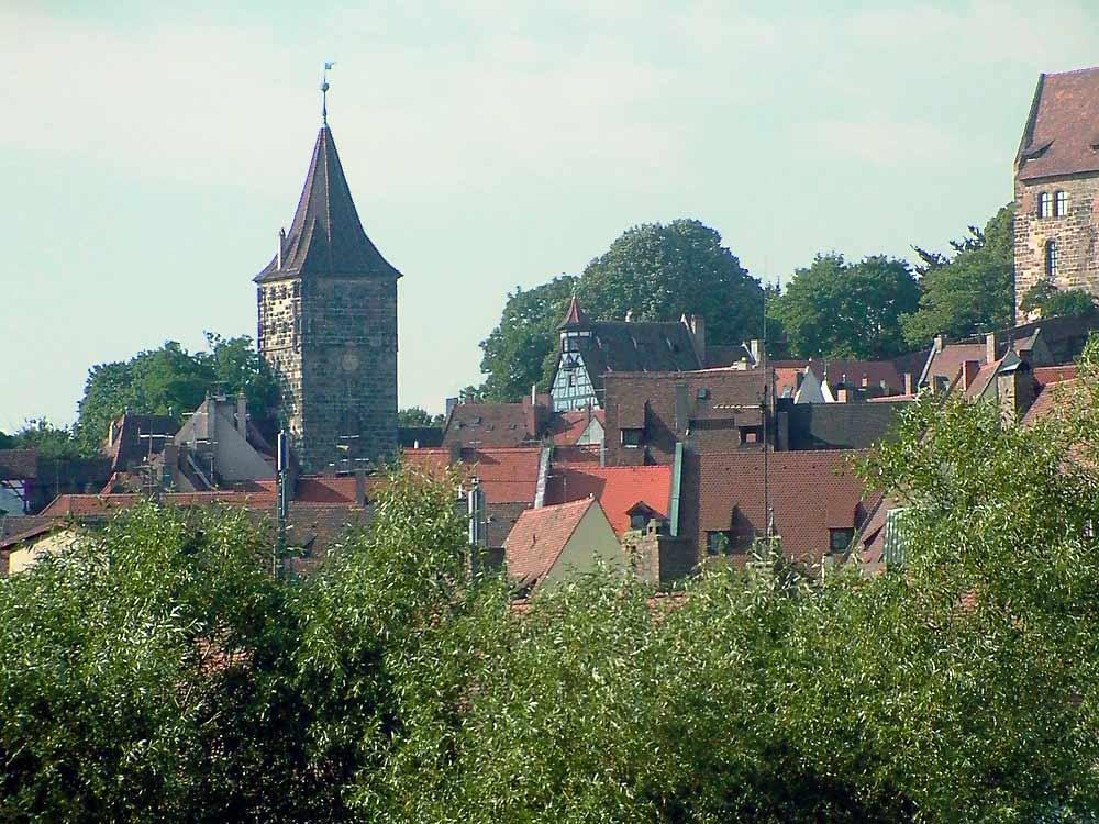 Blick auf Nürnberger Altstadt, Burgseite