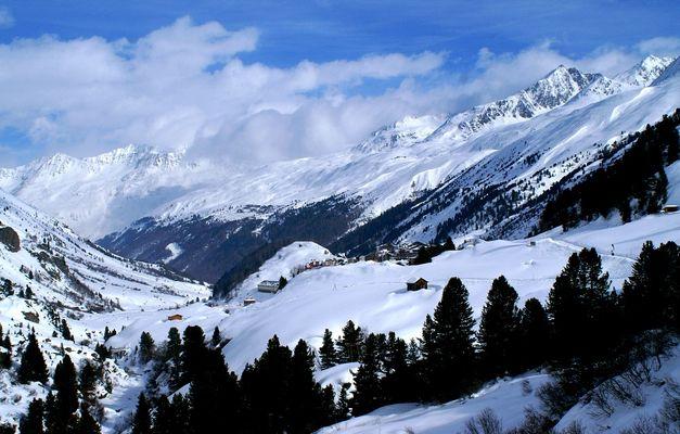 Blick auf Obergurgl im Ötztal