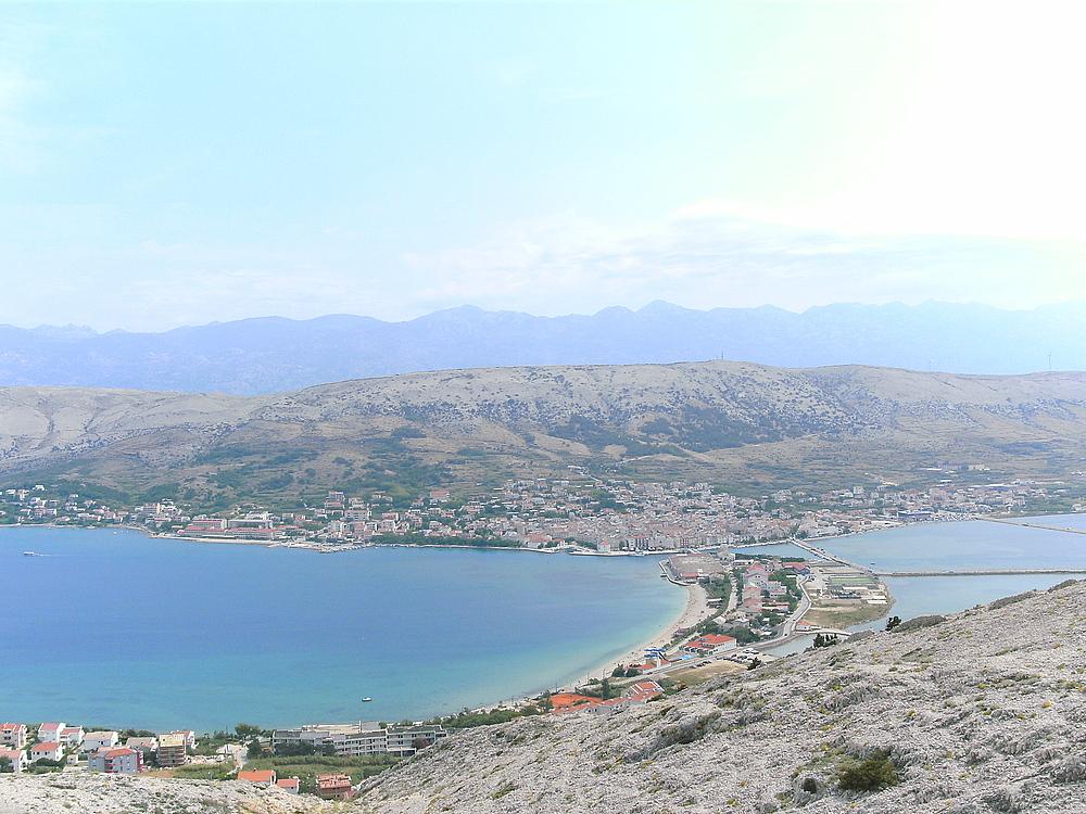 Blick auf Pag(Kroatien)