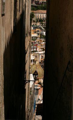 Blick auf Positano