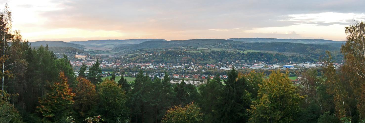 Blick auf Rudolstadt