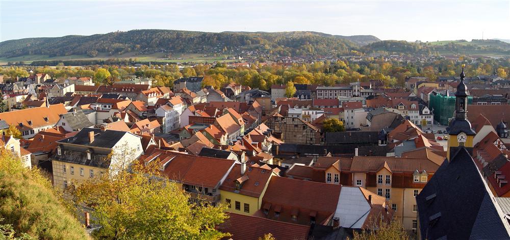 Blick auf Rudolstadt vom Schloß Heidecksburg