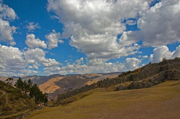 Blick auf Sacsayhuaman und Cuzco