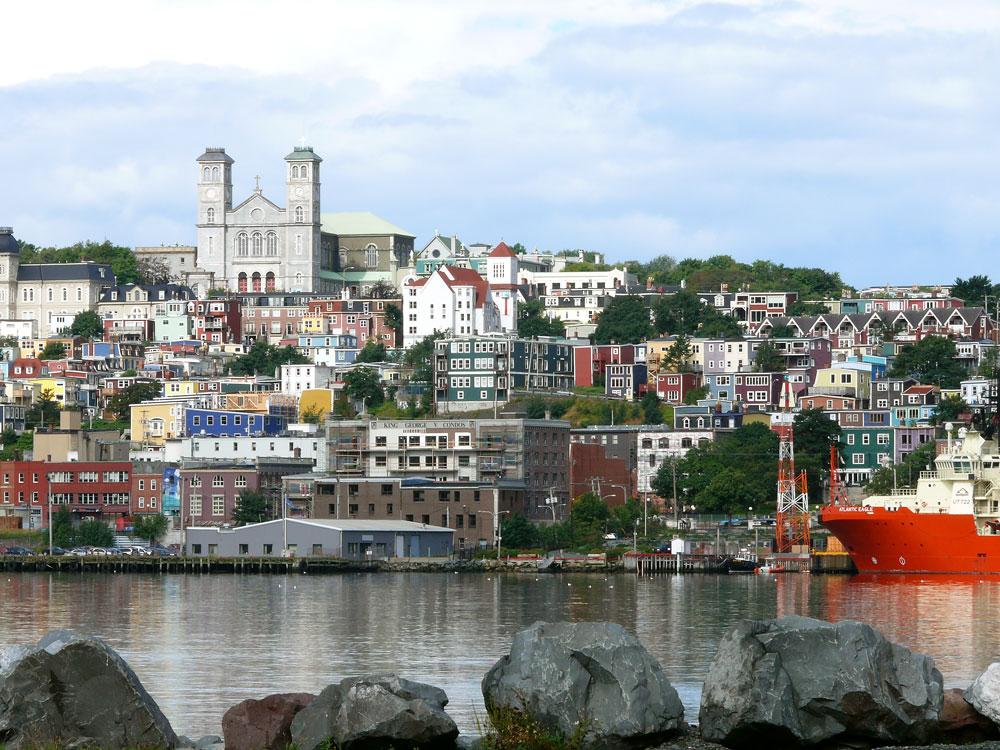 Blick auf Saint Johns