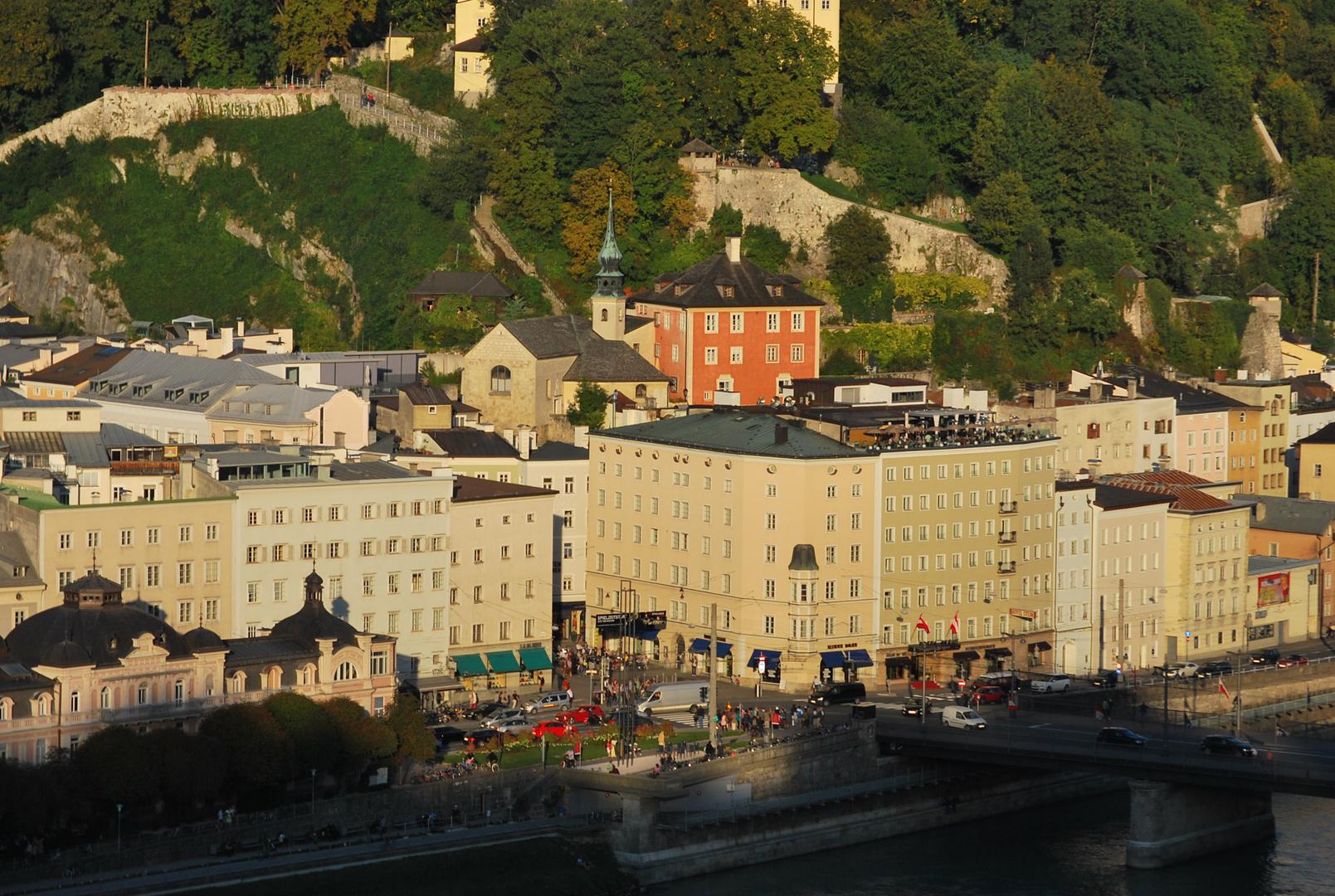 Blick auf Salzburg aufgenommen vom Mönchsberg