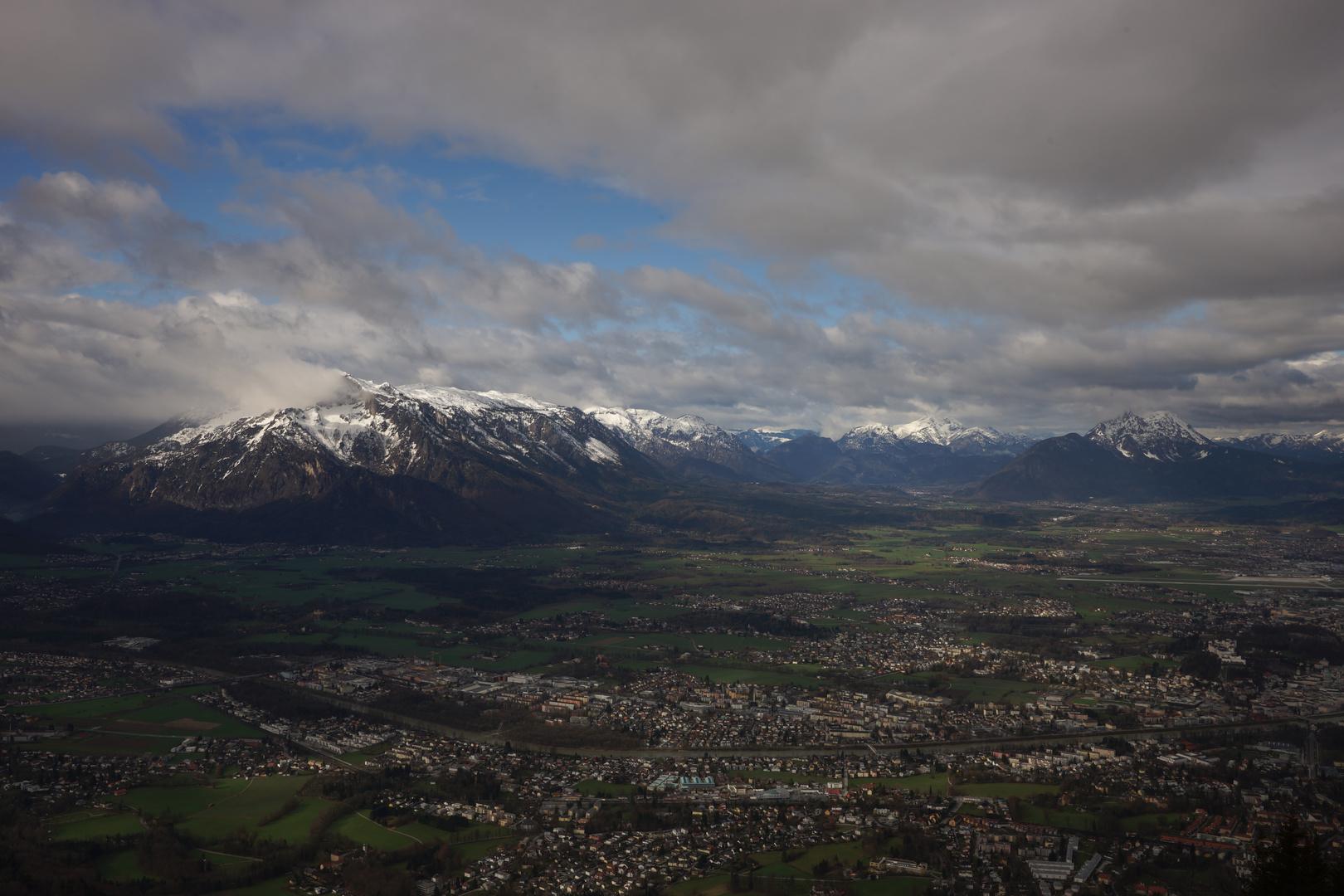 Blick auf Salzburg vom Gaisberg