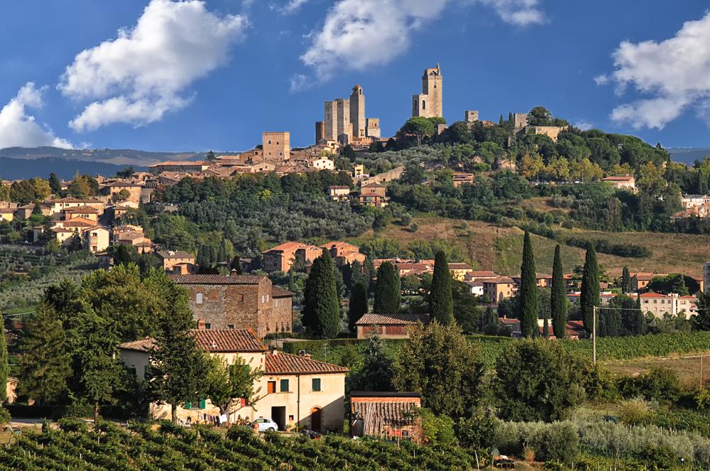 "Blick auf ""San Gimignano"""