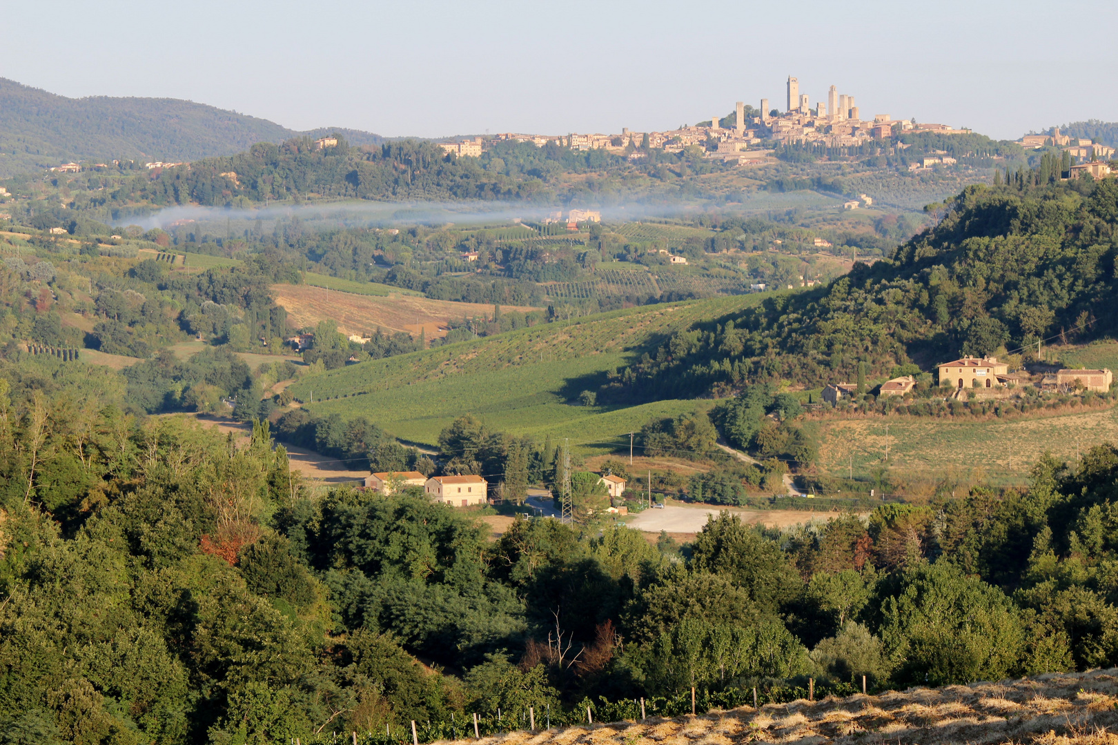 Blick auf San Gimignano, Toskana