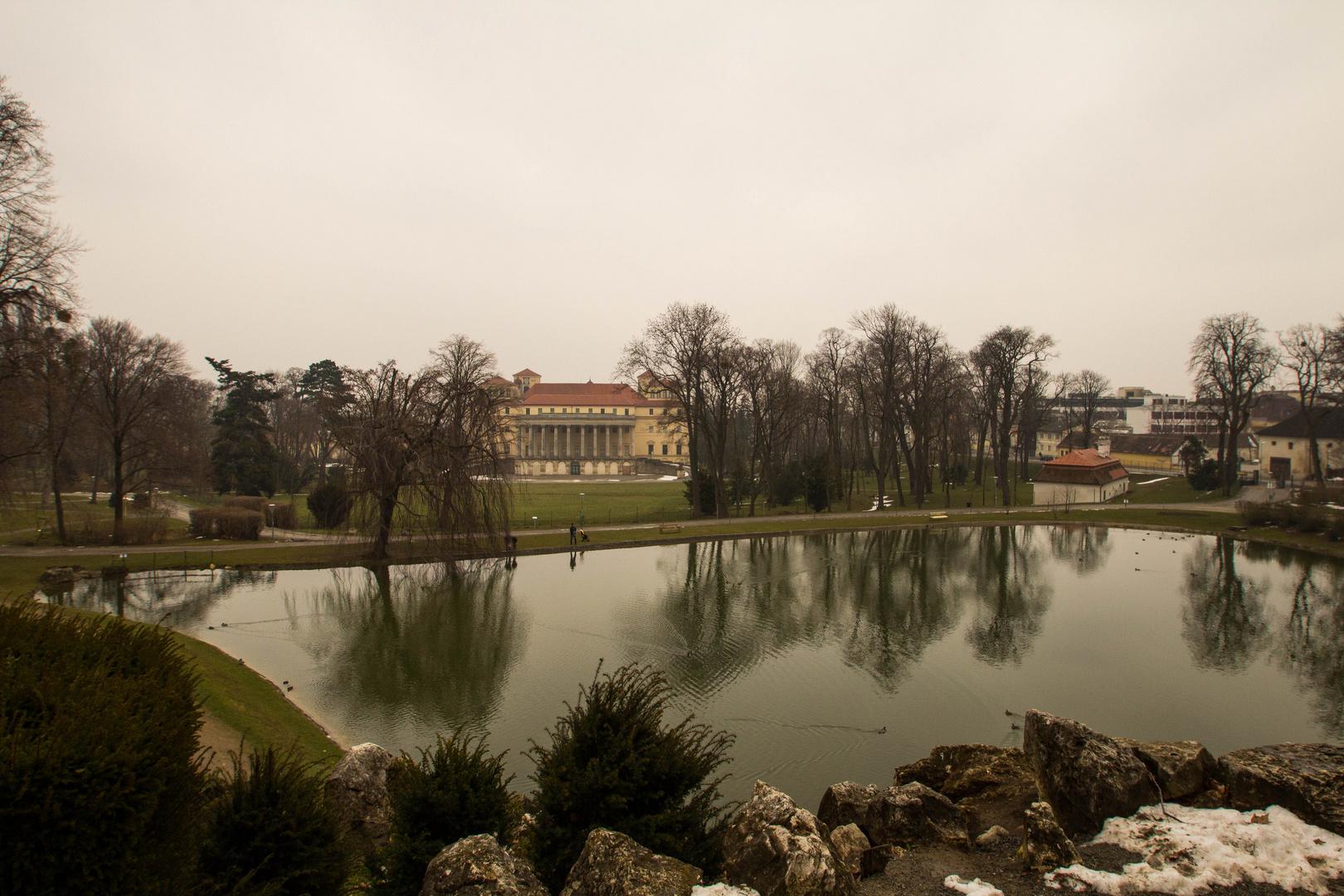 Blick auf Schloss Esterhazy