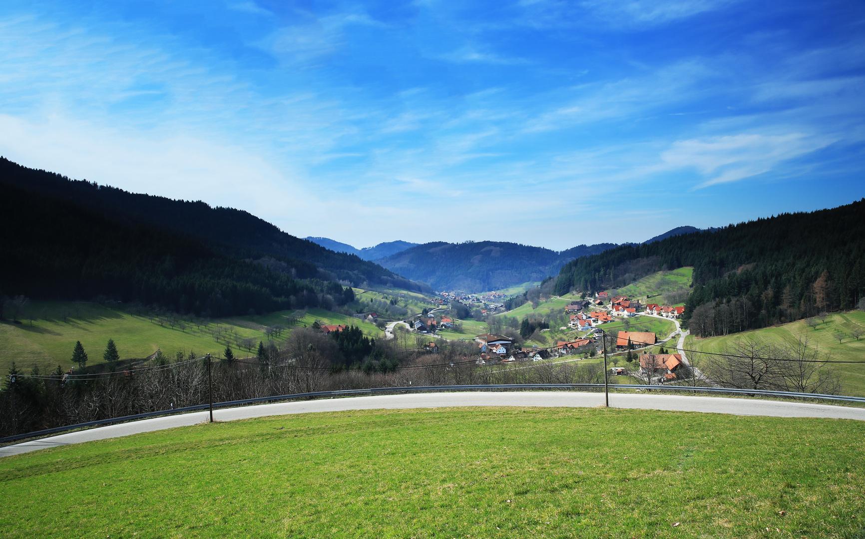 Blick auf Seebach im Schwarzwald