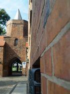 Blick auf Stadtmauer von Rathausseite