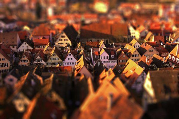 Blick auf Tübingens Altstadt