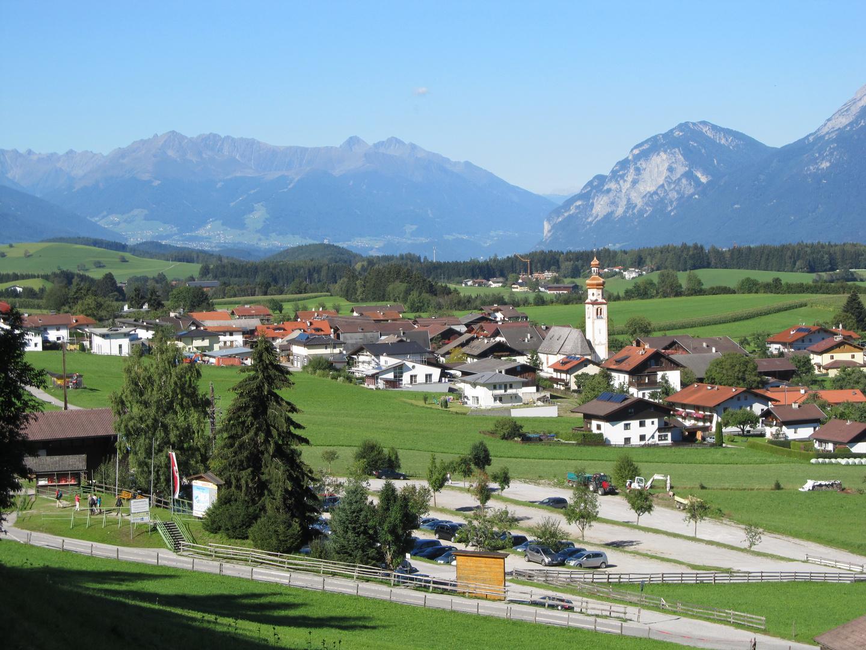 Blick auf Tulfes bei Hall in Tirol