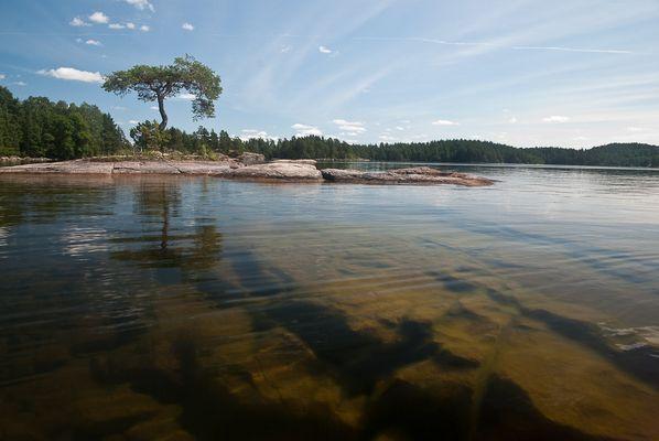 """Blick auf """"Unsere Insel"""", Malexander Schweden Juli 2009"""