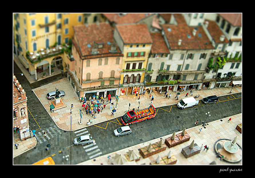 Blick auf Verona / Italien